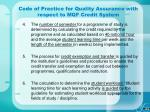 code of practice for quality assurance with respect to mqf credit system37