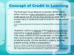 concept of credit in learning11