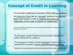 concept of credit in learning14
