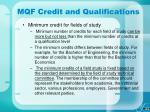 mqf credit and qualifications29