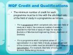 mqf credit and qualifications30