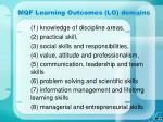 mqf learning outcomes lo domains