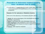 procedure to determine student learning time academic load credit52