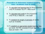 procedure to determine student learning time academic load credit57
