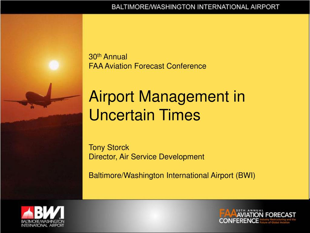 30 th annual faa aviation forecast conference l.
