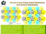 extreme cases using actual interference non uniform distribution44