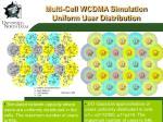 multi cell wcdma simulation uniform user distribution