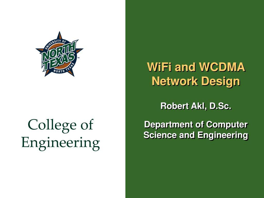 wifi and wcdma network design l.