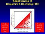 adaptiveness of benjamini hochberg fdr
