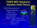 fwer mcp solutions random field theory