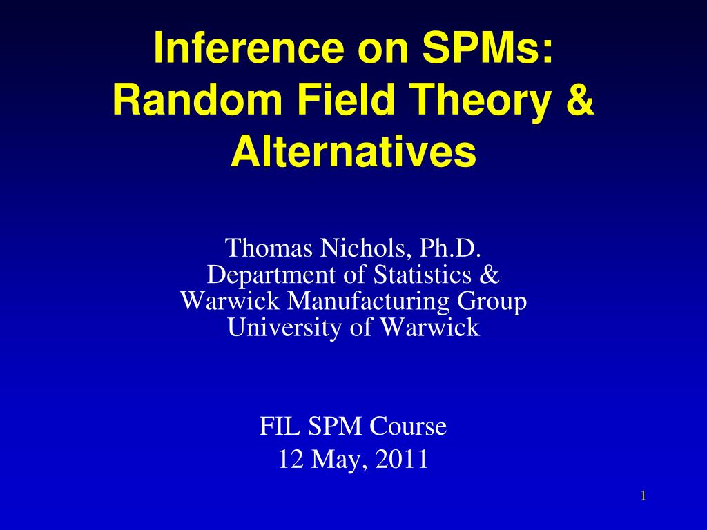 Inference on SPMs: