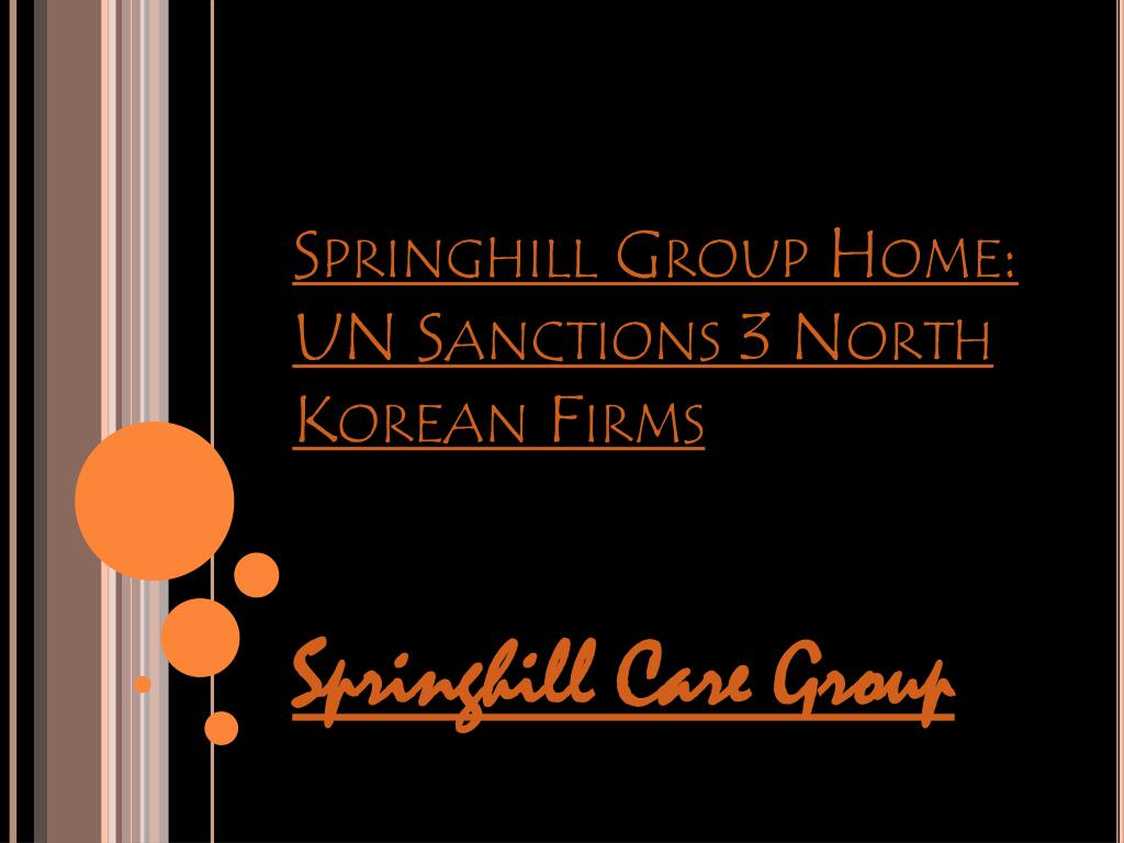 springhill group home un sanctions 3 north korean firms l.