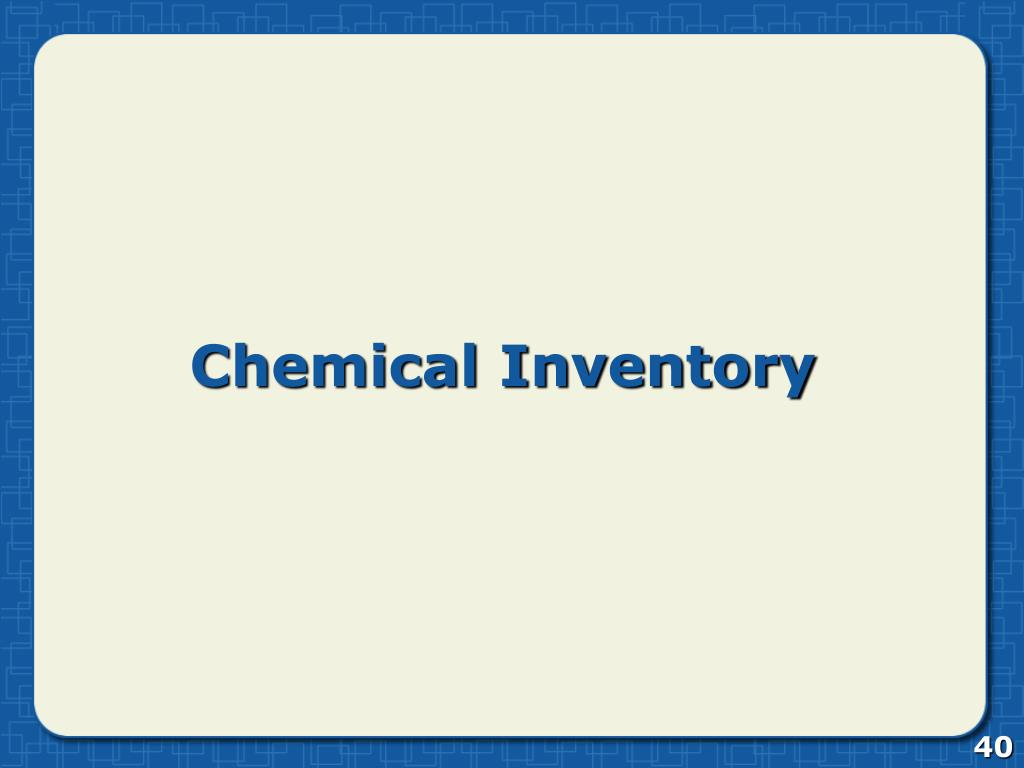 Chemical Inventory
