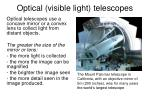 optical visible light telescopes