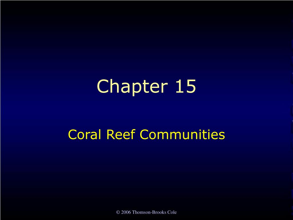 coral reef communities l.