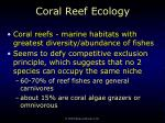 coral reef ecology68