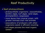 reef productivity52
