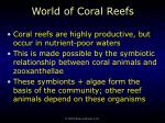 world of coral reefs