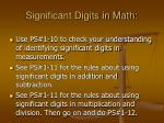 significant digits in math