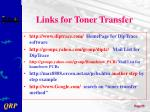 links for toner transfer