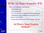 pcbs via toner transfer tt