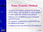 toner transfer method