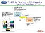 ford motor company p2b integration drivers ideal state