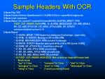 sample headers with ocr