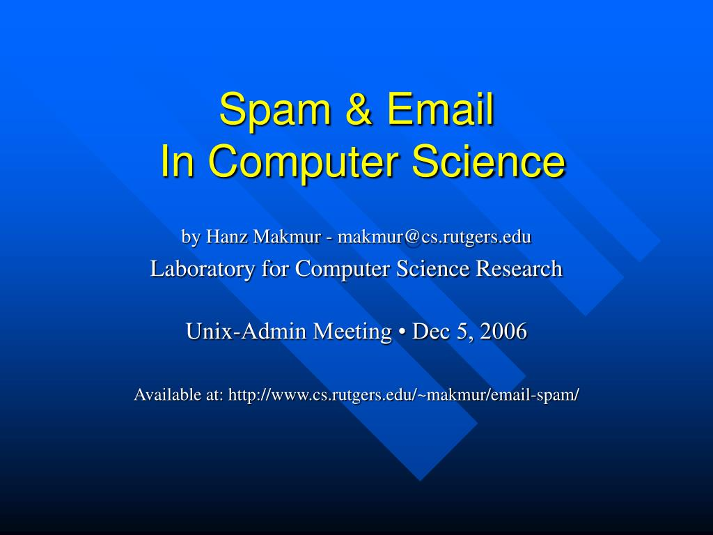 spam email in computer science l.