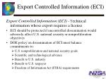 export controlled information eci