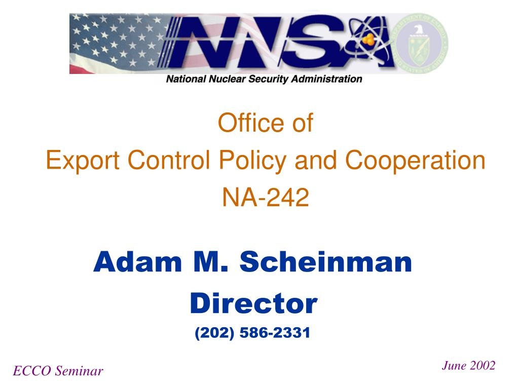 office of export control policy and cooperation na 242 l.