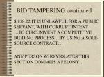 bid tampering continued63
