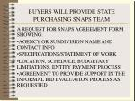 buyers will provide state purchasing snaps team