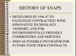 history of snaps