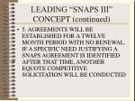 leading snaps iii concept continued49
