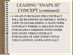 leading snaps iii concept continued50