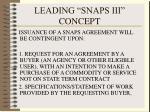leading snaps iii concept