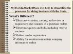 myfloridamarketplace will help to streamline the processes for doing business with the state
