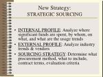 new strategy strategic sourcing