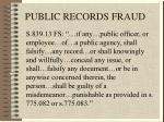 public records fraud