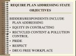 require plan addressing state objectives