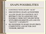 snaps possibilities