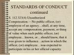 standards of conduct continued