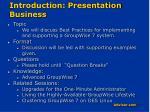 introduction presentation business