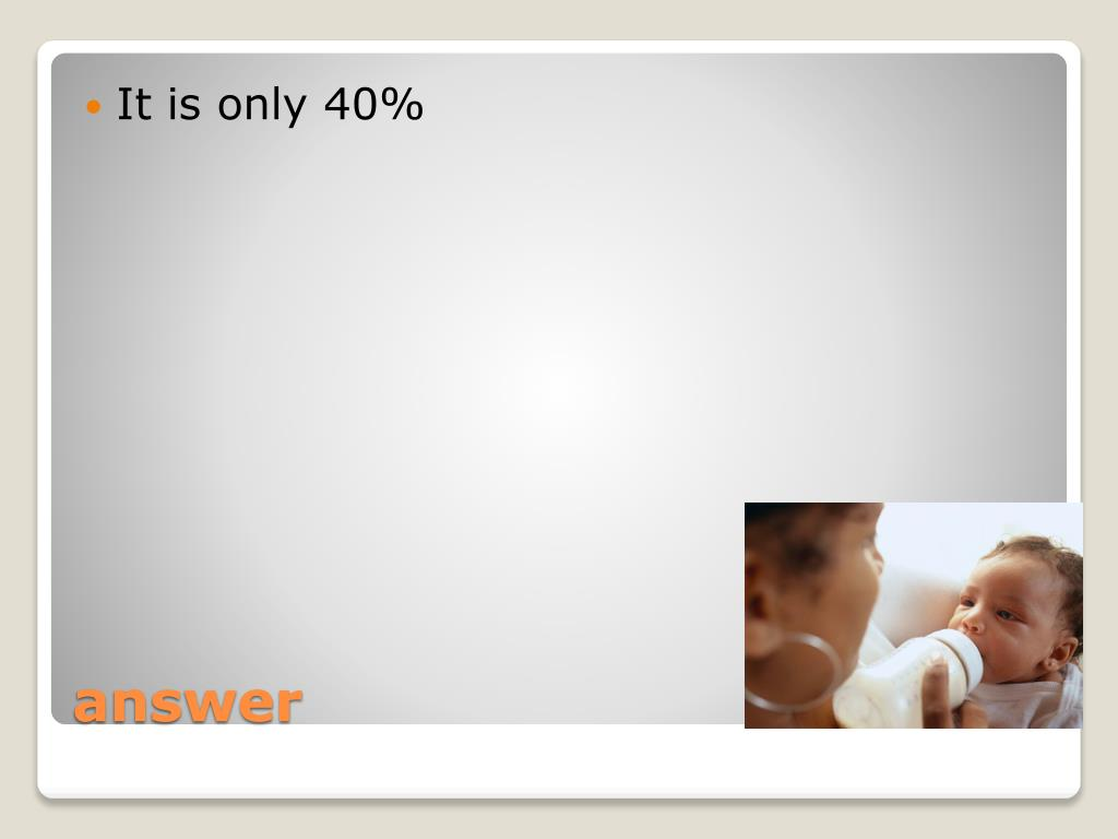 It is only 40%