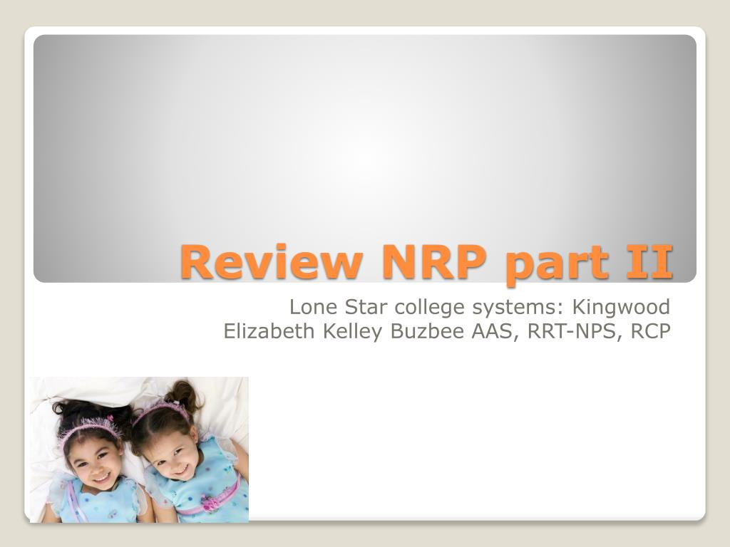 review nrp part ii l.
