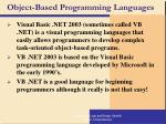 object based programming languages
