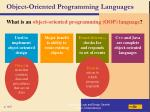 object oriented programming languages