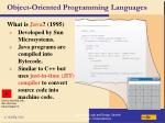 object oriented programming languages106
