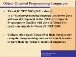 object oriented programming languages114
